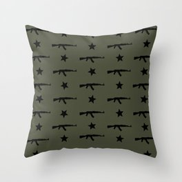 AK-47 Pattern Throw Pillow