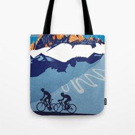 Giro d'Italia Passo Dello Stelvio cycling poster Tote Bag