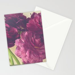 Romantic Ranunculus Stationery Cards
