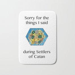 Catan, Settlers of Catan, Board Game, Geek Art, Nerd Art Bath Mat