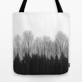 Trees in rows Tote Bag