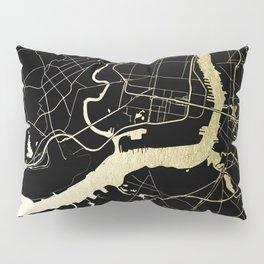 Philadelphia - Black and Gold Pillow Sham