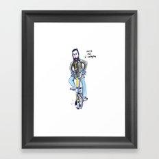 Me and My Brompton Framed Art Print