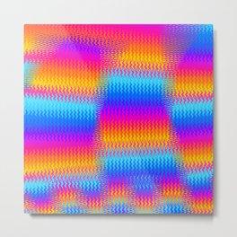 Psychedelic Rainbow Heat Waves Metal Print