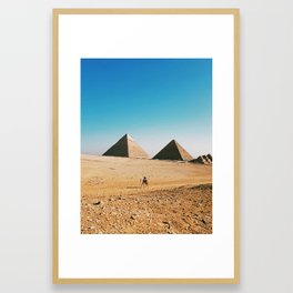 The Great Pyramid / Giza, Egypt Framed Art Print