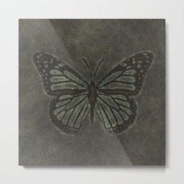 Bronze Monarch Butterfly Metal Print