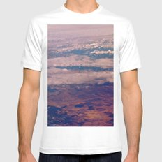 Above White MEDIUM Mens Fitted Tee