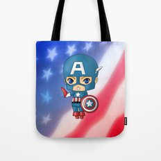 Chibi Captain America Tote Bag