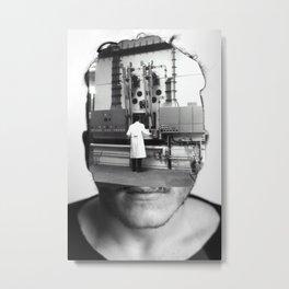 Another Portrait Disaster · Der denkt nur an die Arbeit  Metal Print