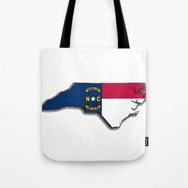 North Carolina Map with North Carolinian Flag Tote Bag