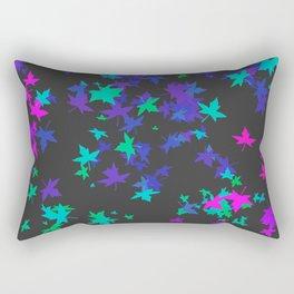 Neon Leaves Fall Rectangular Pillow