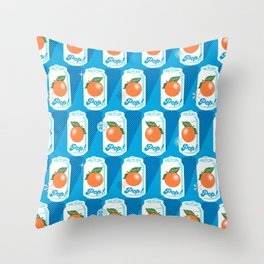 Pop Art Citrus (Sky) Throw Pillow
