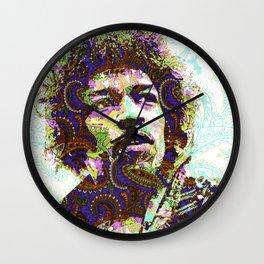 Hendrix Psychedelic Guitar Wall Clock