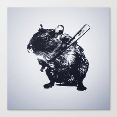 Angry mouse Canvas Print