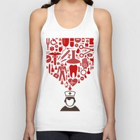 doctor Tank Tops featuring Doctor by aleksander1