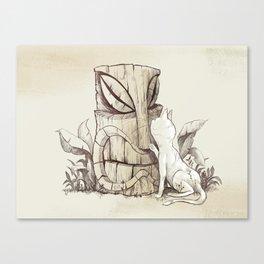 Tiki Cat Canvas Print