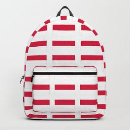 flag of monaco -monegasque,monte carlo,Grimaldi, Albert,casino,Mediterranean,French Riviera Backpack