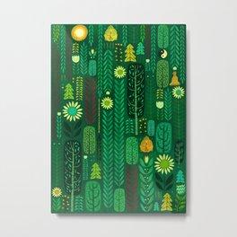 Sacred Forest (Portrait) Metal Print