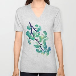O Ginkgo (in Green) Unisex V-Neck