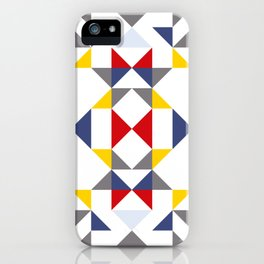 Geometric Pattern Vibes in White iPhone Case
