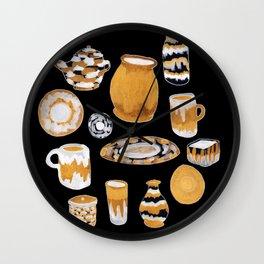 Rust Ceramics Wall Clock