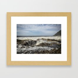 Thor's Well, No. 2 Framed Art Print