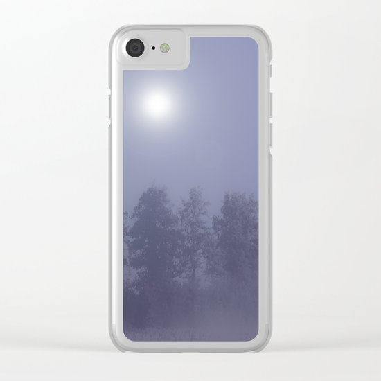 Silent Night in Foggy Atmosphere Clear iPhone Case