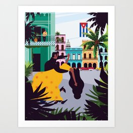 Havana ft. Salsa Dancers Art Print