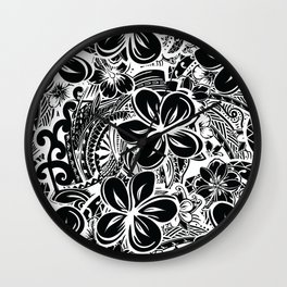 Savaii Polynesian Tribal Wall Clock