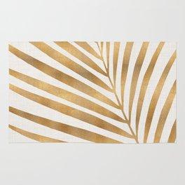 Metallic Gold Palm Leaf Rug
