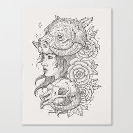 Tauntaun Girl Canvas Print