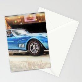 Vintage 1969 Ocean blue 427 Stingray Vette Big Block Stationery Cards
