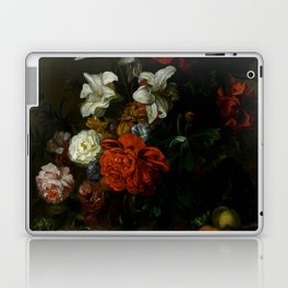 "Ernest Stuven ""Poppies, lilies, roses and other flowers in a glass vase on a draped marble ledge"" Laptop & iPad Skin"