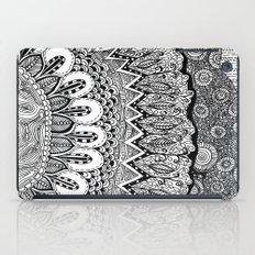 Black and White Doodle iPad Case