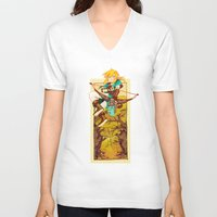 the legend of zelda V-neck T-shirts featuring Legend of Zelda by bozrat