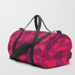 Scarlet Liquid Plastic Surface Duffle Bag
