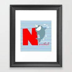 n for narwhal Framed Art Print