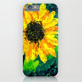 Sunflower on a Field of Green iPhone Case