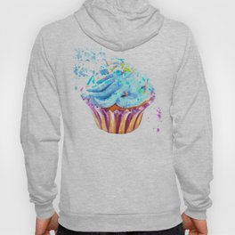 Cupcake watercolor illustration Hoody