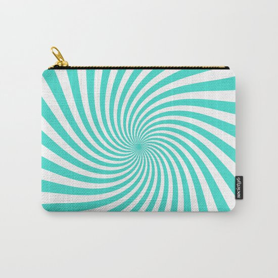 Swirl (Turquoise/White) Carry-All Pouch