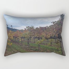 Vineyard in Autumn Rectangular Pillow