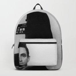 Johnny Cash Mug Shot Music lover Fan mugshot Backpack