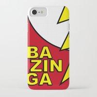 bazinga iPhone & iPod Cases featuring Bazinga by Bazingfy