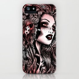 Baroque Head_Red iPhone Case