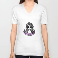 lorde V-neck T-shirts featuring Kool Kid by evuaffs