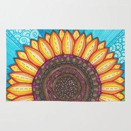 Sunflower Stitches Rug