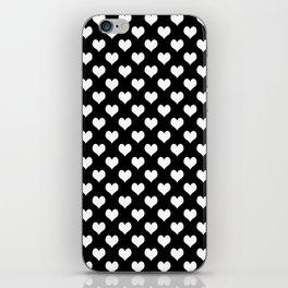 Black & White Hearts Pattern iPhone Skin
