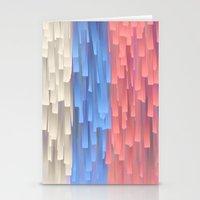 fringe Stationery Cards featuring Fringe (Blue) by Jacqueline Maldonado