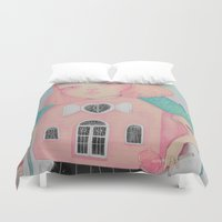 loll3 Duvet Covers featuring Dollhouse by lOll3