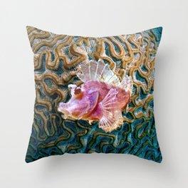 Pink Scorpionfish Throw Pillow